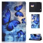 Shock-proof Pattern Printing Card Slot Stand PU Leather Tablet Shell for Huawei MediaPad T3 7.0 WiFi – Blue Butterflies