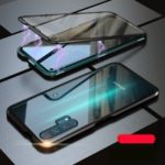 Magnetic Installation Metal Frame + Glass Alll-side Protective Phone Case for Huawei Honor 20 Pro – Black