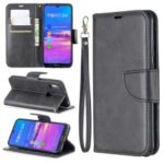 PU Leather Phone Case for Huawei Y6 (2019, with Fingerprint Sensor)/Y6 Prime (2019)/Honor 8A – Dark Grey