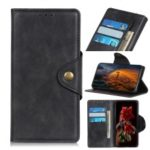 Brass Buckle Wallet Leather Stand Case for Huawei Honor 20 – Black