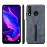 PU Leather Coated TPU Protective Phone Case for Huawei P30 Lite – Grey