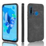 PU Leather Coated TPU + PC Back Phone Shell for Huawei P20 lite (2019) / Nova 5i – Dark Grey