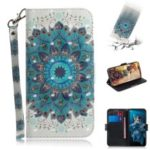 3D Light Spot Decor Pattern Printing Leather Wallet Stand Case for Huawei Honor 20 – Charming Flower