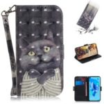 Pattern Printing Light Spot Decor Leather Wallet Phone Casing with Strap for Huawei P20 lite (2019) – Fierce Panda