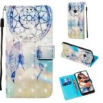 3D Painting Style Leather Phone Shell for Huawei Y7 (2019) / Y7 Prime (2019) / Enjoy 9 / Y7 Pro (2019) – Blue Dream Catcher