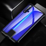 LENUO Leshield Series Pull Push Style Metal Frame+Glass Phone Shell Case for Huawei Honor 20 – Black