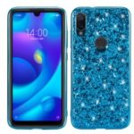 Glittering Sequins Electroplating TPU Frame+PC Hybrid Phone Case for Xiaomi Mi Play – Blue