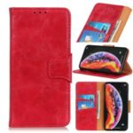 Crazy Horse Texture Magnetic Wallet PU Leather Phone Case for Xiaomi Mi Mix 3 5G – Red