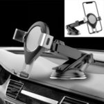 Car Phone Holder Stand New Suction Cup Type Gravity Creative Adjustable Telescopic Car Phone Mount – Silver