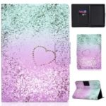 Pattern Printing PU Leather + TPU Stand Tablet Cover for Amazon All-New Kindle (2019) – Love Heart Quicksand