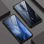 High-Quality Metal Frame + Glass Back Phone Case for OPPO Reno 10x Zoom – Black