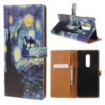 Pattern Printing Wallet Leather Stand Phone Case for OnePlus 7 Pro – Starry Sky