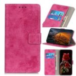 Vintage Style Leather Wallet Case for Wiko Jerry 4 – Rose