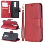 PU Leather Wallet Phone Case for Nokia 4.2 (2019) – Red