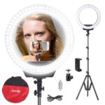 ZOMEI 16-inch Ring Light LED Camera Light Cell Phone Holder Desktop Lamp with Tripod Stand for Video Shooting and Makeup etc. – US Plug
