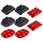 PULUZ 2PCS Curved Surface Mounts + 2PCS Flat Surface Mounts + 4PCS Adhesive Mount Stickers for GoPro Hero 6 / 5 / 5 Session / 4 Session