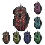 HXSJ Stream Crack Pattern Optical USB Wired Woven Nylon Line Pro Gaming Mouse