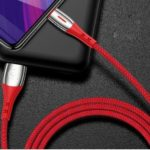 USAMS US-SJ346 U-Tone Series Smart Power-off Micro USB 2.0 Charging Data Cable 1.2m – Red