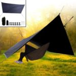Waterproof Camping Sun Shade Sail Sunscreen Awning Canopy Screen UV Block with Ropes Nails