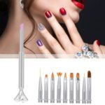 10-in-1 Changeable Nail Art Brush Liner Nail Pen Set UV Gel Gradient Painting Polishing Cuticle Remove Manicure Kit