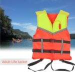 Adult Lifesaving Life Jacket Buoyancy Aid Swimming Boating Surfing Work Vest Clothing Survival Suit