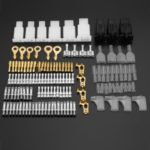 144Pcs Male Female Connectors Auto Tin Plate Brass Terminal Maintenance Fixture Wiring Loom Automotive Harness Repair Kit