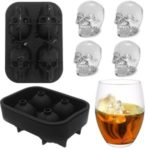 Mold Bar Skull Shape Tray Ice Cube Party Silicone Chocolate Drinks 3D Maker