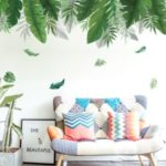 60x90cm Leaves Pattern Wall Stickers Home Decor Adhesive Room Wallpaper Mural Art Decal