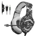 ONIKUMA K1 Pro 3.5MM MIC Gaming Headset for PS4 Xbox – Leopard
