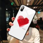 Pattern Printing Glass Back + TPU Hybrid Case for iPhone XS Max 6.5 inch – Style A