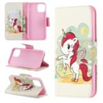 Pattern Printing PU Leather Wallet Stand Phone Cover for iPhone XS 5.8 inch – Unicorn