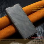Ultra Business Style Leather Flip Cell Casing for iPhone (2019) 5.8-inch – Grey