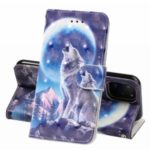 3D Printing Style Texture Leather Phone Casing Covering Shell for iPhone (2019) 6.1-inch – Wolf and Moon