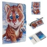Marble Pattern Printing Wallet Leather Stand Case for iPad Mini 1/2/3/4/(2019) 7.9 inch – Tiger