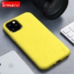 IPAKY Matte Wheat Straw TPU Mobile Phone Case for iPhone (2019) 6.1-inch – Yellow