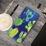 Pattern Printing Clear TPU Mobile Phone Case for Samsung Galaxy A30 – Cactus