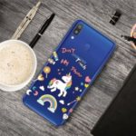 Pattern Printing Clear TPU Cell Phone Case for Samsung Galaxy M20 – Unicorn