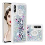 Floating Glitter Powder Sequins TPU Back Case for Samsung Galaxy M40 / A60 – Smile