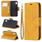 PU Leather Wallet Stand Phone Cover for Samsung Galaxy A10e – Yellow