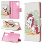 Pattern Printing Leather Wallet Stand Phone Shell for Samsung Galaxy Note 10 Pro – Unicorn