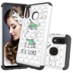[Rhinestone Decor] Patterned PC TPU Phone Shell for Samsung Galaxy A20 / Galaxy A30 – It's Cold