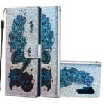 Printing Surface Glitter Sequins Leather Phone Shell Cover for Samsung Galaxy Note 10 Pro – Mermaid