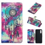 Marble Pattern Printing Leather Wallet Stand Protective Case for Samsung Galaxy A50 – Dream Catcher
