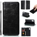 Crazy Horse Texture Strong Magnetic Leather Wallet Phone Cover Case for Samsung Galaxy Note 10 Pro – Black
