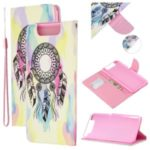 Pattern Printing Leather Wallet Case for Samsung Galaxy A80/A90 – Dream Catcher