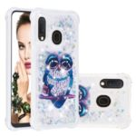 Liquid Glitter Powder Patterned Quicksand Shockproof TPU Back Case for Samsung Galaxy A20e / A10e – Owl