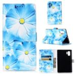 Pattern Printing Wallet Leather Stand Case for Samsung Galaxy Note 10 Pro – Blue Flower
