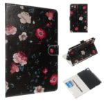 Marble Series Pattern Auto Wake & Sleep Leather Wallet Phone Cover for Samsung Galaxy Tab A 8.0 (2019) P200 / P205 – Various Flowers