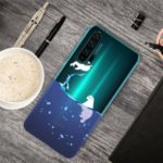 Cute Pattern Clear TPU Phone Cover Case Protector for Huawei Honor 20 Pro – Swimming Bear