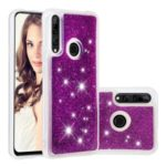Dynamic Glitter Powder Sequins TPU Phone Case Cover for Huawei P Smart Z / Y9 Prime 2019 – Purple
